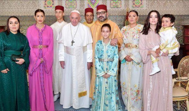 أمير المؤمنيين يقيم مأدبة عشاء رسمية على شرف الوفد المرافق لقداسة البابا فرانسيس