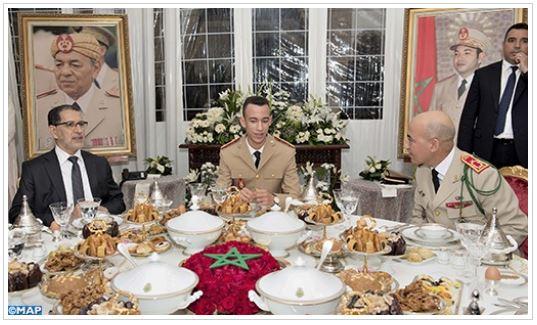 الأمير مولاي الحسن يترأس مأدبة فطور-عشاء أقامها جلالة الملك بمناسبة ذكرى تأسيس القوات المسلحة الملكية