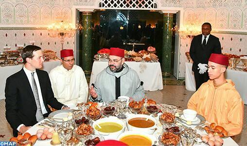 جلالة الملك يقيم مأدبة إفطار على شرف مستشار رئيس الولايات المتحدة الأمريكية