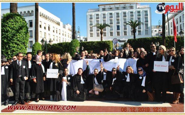 وقفة احتجاجية لهيئة المحامين لإسقاط المادة 09 من قانون المالية