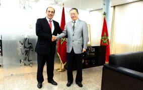 السيد الحسن عبيابة يستقبل سفير جمهورية الصينالشعبية بالمملكة